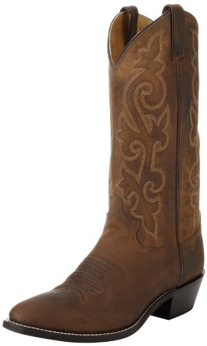 Justin Boots Men's 13″ Western Boot Medium Round Toe,Bay Apache,8 D US