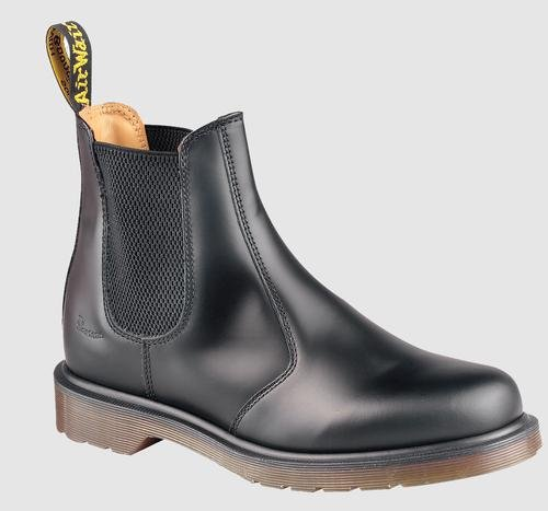 Dr. Martens 2976 Chelsea Boot,Black Smooth,5 UK (Women's 7 M US/Men's 6 M US)