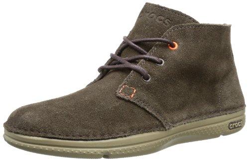crocs Men's Thompson Desert Boot,Espresso/Khaki,8 M US