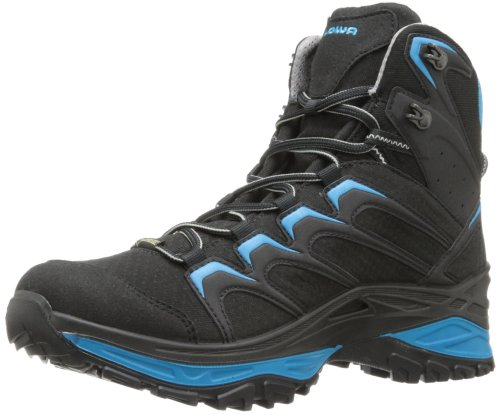 Lowa Men's Innox Goretex Mid Hiking Boot,Black/Blue,14 M US