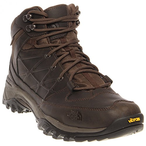 New The North Face Men's Storm Mid WP Leather Hiking Boot Coffee Brown 11