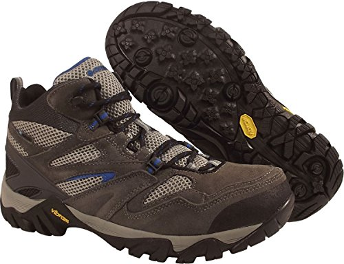 Hi-Tec Men's Coyote Mid WP Shoe,Charcoal/Graphite/Blue,10.5 M US
