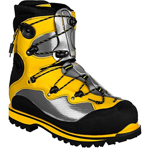 La Sportiva Spantik Mountaineering Boot – Men's Yellow/Grey/Black, 39.5