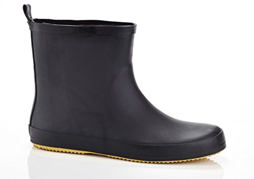 "SOLO Mens ""Ever Dry"" Low Cut Rubber Water Resistant Rain Boot Black 12"