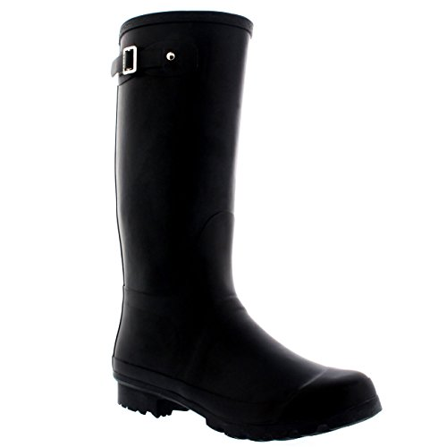 Mens Original Tall Plain Fishing Garden Rubber Waterproof Wellingtons – 14 – BLA47 BL0180