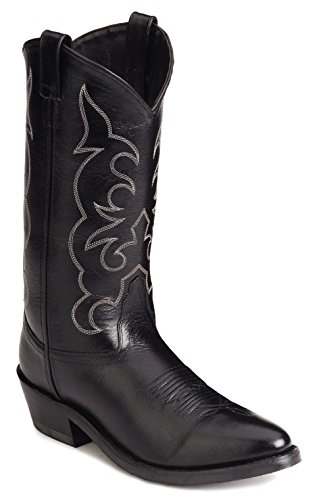 Old West Men's Trucker Western Work Boot Black 9 EE US