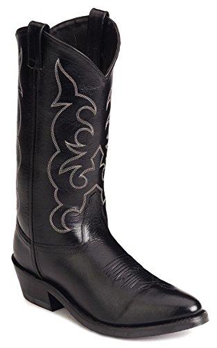 Old West Men's Leather Cowboy Work Boots – Black9.5 D(M) US