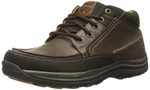 Skechers USA Men's Expected Chukka Boot, Chocolate, 11 M US