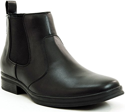 Alpine Swiss Mens Chelsea Boots Suede Lined Pull On Ankle Shoes Black 10 M US