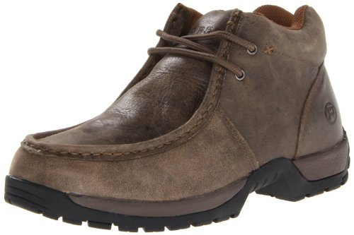Roper Men's Performance 2 Eyelet Ankle  Boot,Vintage Nubuck brown,10.5 M US