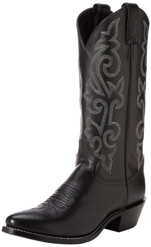 Justin Boots Men's 13″ Western Boot Medium Round Toe,Black London Calf,11 D US