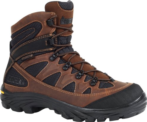 Rocky 9 inch Ridgetop Waterproof Hiking Boots Brown / Black, BRN/BLK, 11W(EE)