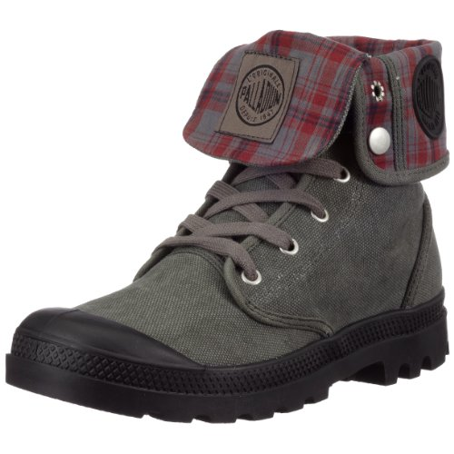 Palladium Men's Baggy Canvas Boot,Stonewash/Metal,13 M US