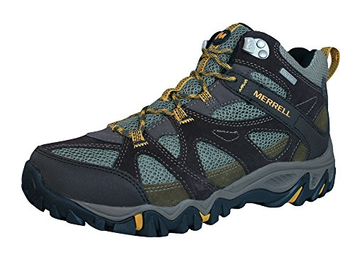 MERRELL Rockbit Mid Waterproof Men's Hiking Boot, Brown, US10