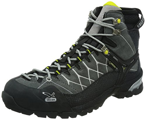 Salewa Men's Alp Trainer Mid GTX Hiking Shoe,Smoke/Steel,9 M US