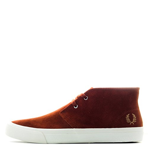 Fred Perry Men's Vernon Medium Suede Chukka Boot,Dark Cinnamon,8 UK/9 M US
