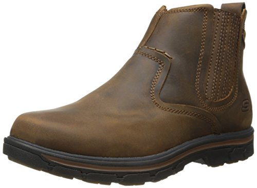 Skechers USA Men's Segment-Dorton Chukka Boot,Dark Brown,10.5 M US