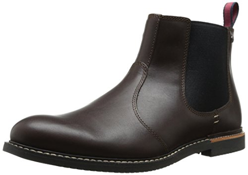 Timberland Men's EK Brook Park Chelsea Boot,Red/Brown Smooth,10 M US