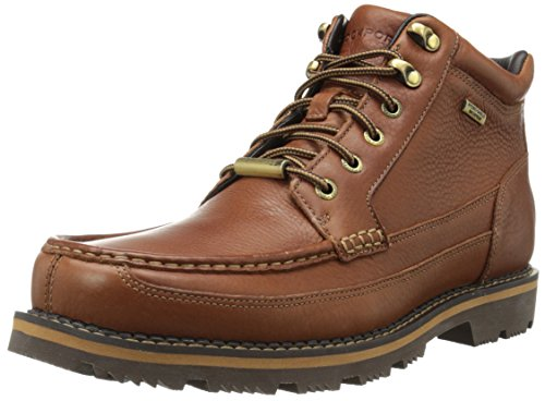 Rockport Men's Gentry Moc Toe Mid Boot,Tan,11.5 M US