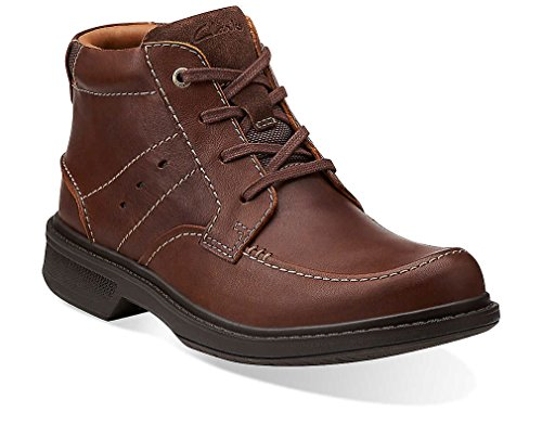 Clarks Men's Wave.Center Top,Brown Leather,US 12 W
