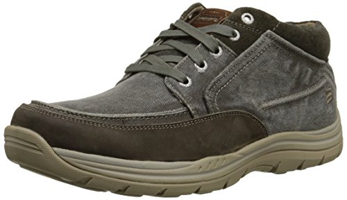 Skechers USA Men's Expected Bremo Chukka Boot, Charcoal, 7 M US