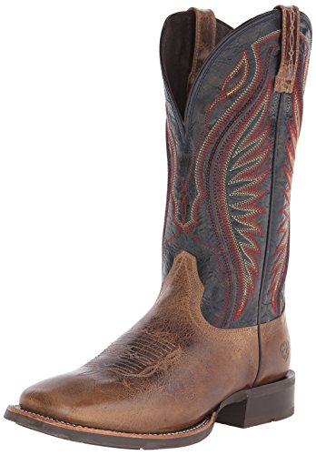 Ariat Men's Rodeo Warrior Western Boot,  Shadow Brown/Silver Stream,  9.5 D US