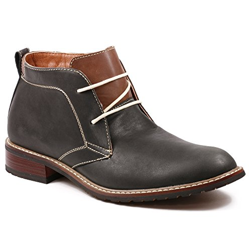 Ferro Aldo MFA-506008 Black Men's Round Toe Ankle Boots Shoes w/ Leather Lining