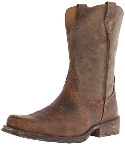 Ariat Men's Rambler Wide Square Toe Western Boot, Earth/Brown Bomber, 11 EE US