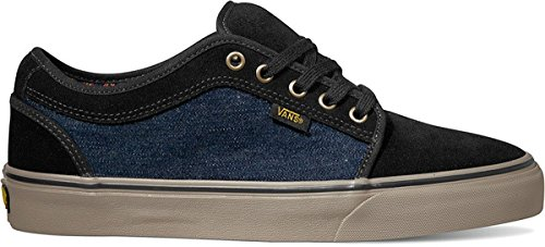 Vans Chukka Low Men's Skate Shoe (13.0 Mens, (Denim) Black/ Grey)