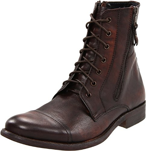 Kenneth Cole REACTION Men's Hit Men Lace-Up Boot,Brown Leather,8.5 M US
