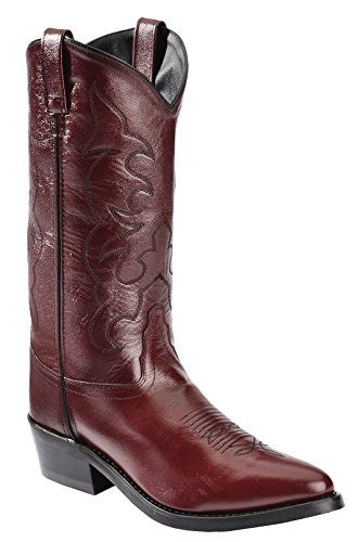 Old West Men's Trucker Western Work Boot Blk Cherry US