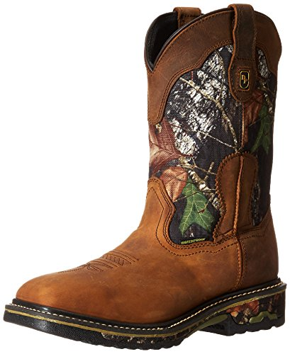 Dan Post Men's Hunter Work Boot, Saddle Tan/Camo, 13 XW US