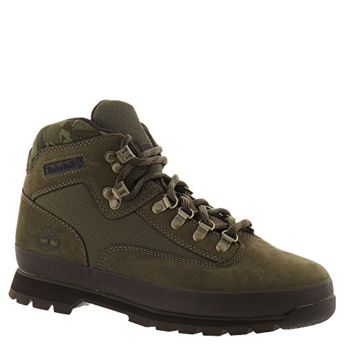 Timberland TB06734B357 Men's Euro Hiker Boot Olive Nubuck w/Camo 9 M US
