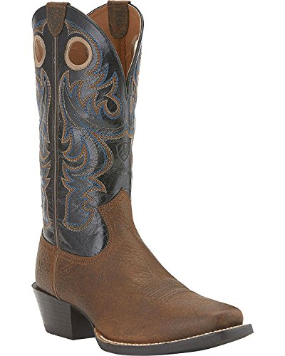Ariat Men's Sport Square Toe Western Boot,  Earth/Black,  8.5 2E US