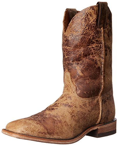 Justin Boots Men's U.S.A. Bent Rail Collection 11″ Boot Wide Square Double Stitch Toe Leather Outsole,Tan Road,13 EE US