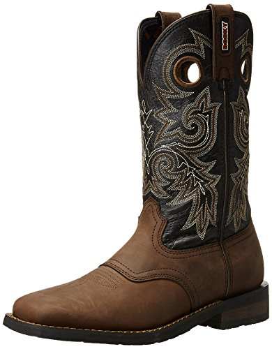 Rocky Men's 12 Inch Western Trail Bend Boot, Brown/Charcoal, 12 M US