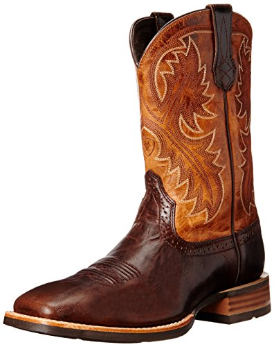Ariat Men's Quickdraw Western Boot,  Thunder Brown/Two Tone Tan,  10.5 EE US
