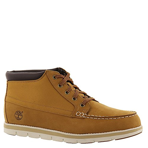 Timberland Men's Wheat Nubuck with Cordura EcoMade Fiber Harborside Moc Toe Chukka 9 D(M) US