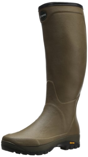 Le Chameau Footwear Men's Country Vibram Jersey Rain Boot, Vert Verizon, 43 EU/10 M US