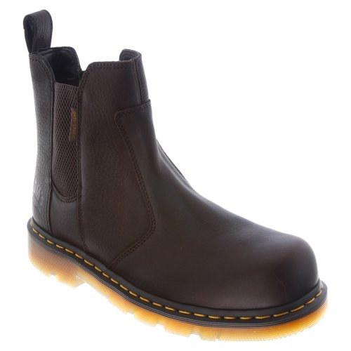 Dr. Martens Men's Fusion Safety Toe Chelsea Boot,Bark,9 UK/10 M US
