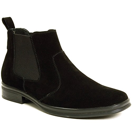 Alpine Swiss Sion Suede Mens Chelsea Ankle Boots Black 9 M US