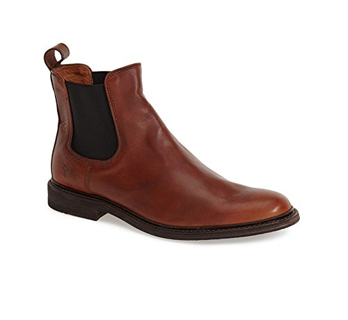 FRYE Men's James Chelsea Boot, Cognac Smooth Vintage Leather, 9.5 M US