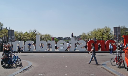 I Amsterdam sign Museumplein