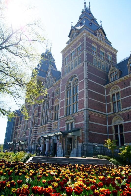 Rijksmuseum Amsterdam in spring