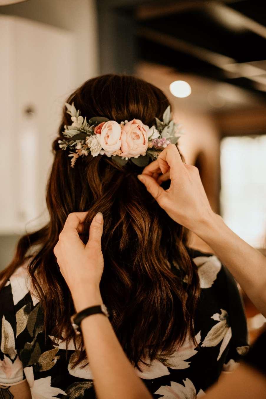 Bridal Hair Getting Ready Photos Wedding Day