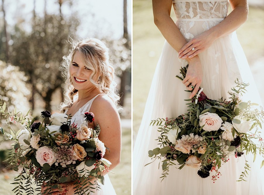 Bride portraits outside in nature