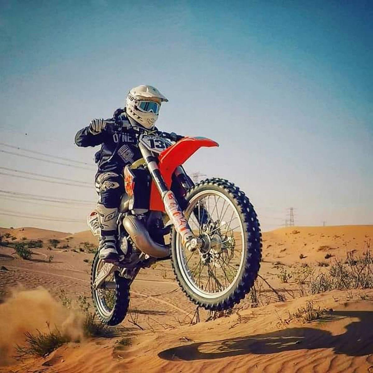 motobike in Merzouga desert