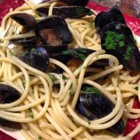 Spaghetti con mitili (mussels).