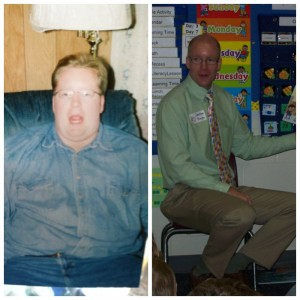 Before and after losing 130 pounds