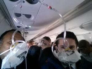 selfie photo during emergency landing